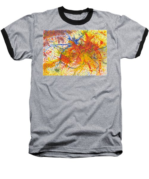 Summer Branches Alfame With Flower Acrylic/water Baseball T-Shirt