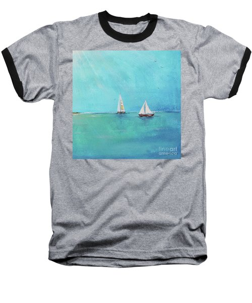 Baseball T-Shirt featuring the painting Summer Breeze-e by Jean Plout