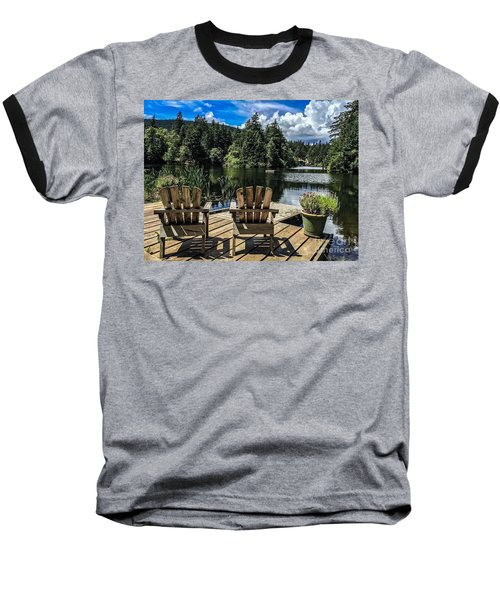 Summer By Eagle Lake Baseball T-Shirt by William Wyckoff