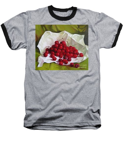 Summer Cherries Baseball T-Shirt