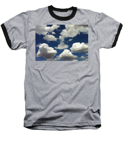 Summer Clouds In A Blue Sky Baseball T-Shirt