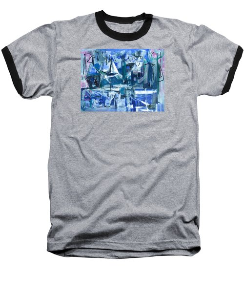 Baseball T-Shirt featuring the painting Summer Coming Down Final Version by Betty Pieper
