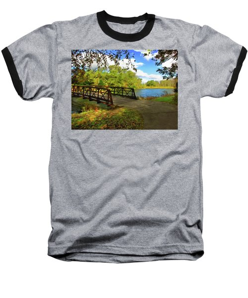 Summer Crossing Baseball T-Shirt by Cedric Hampton