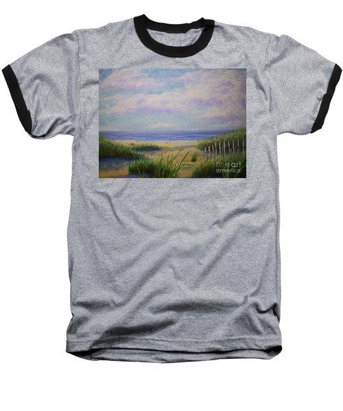 Summer Day At The Beach Baseball T-Shirt by Stanton Allaben