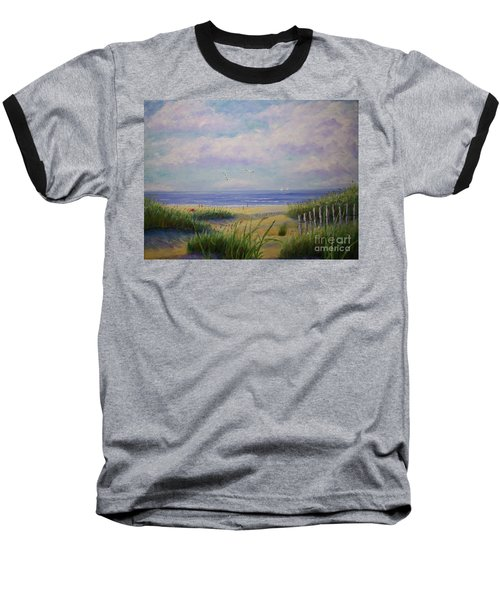 Summer Day At The Beach Baseball T-Shirt