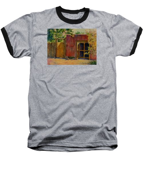 Baseball T-Shirt featuring the painting Summer Day In Santa Fe by Ann Peck