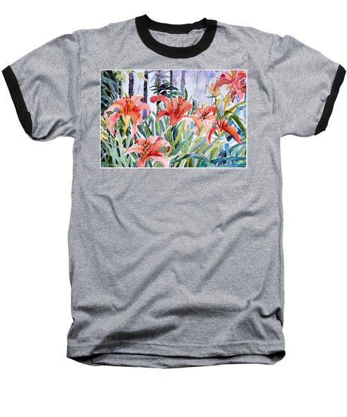 My Summer Day Liliies Baseball T-Shirt