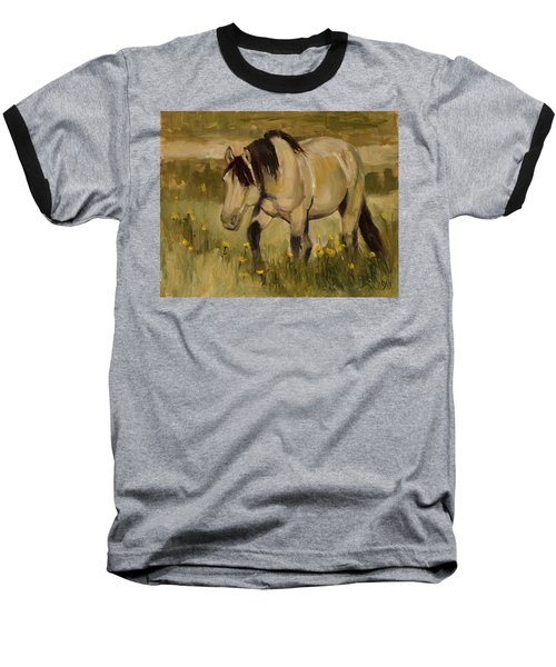 Baseball T-Shirt featuring the painting Summer Days by Billie Colson