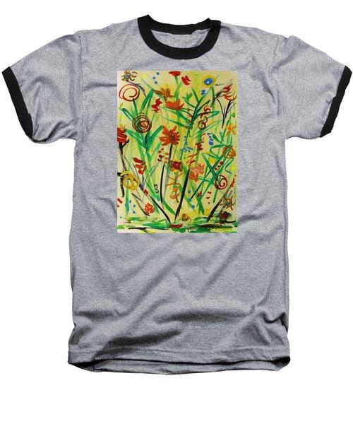 Summer Ends Baseball T-Shirt by Mary Carol Williams