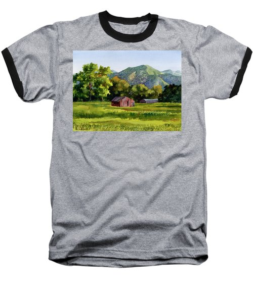Summer Evening Baseball T-Shirt by Anne Gifford