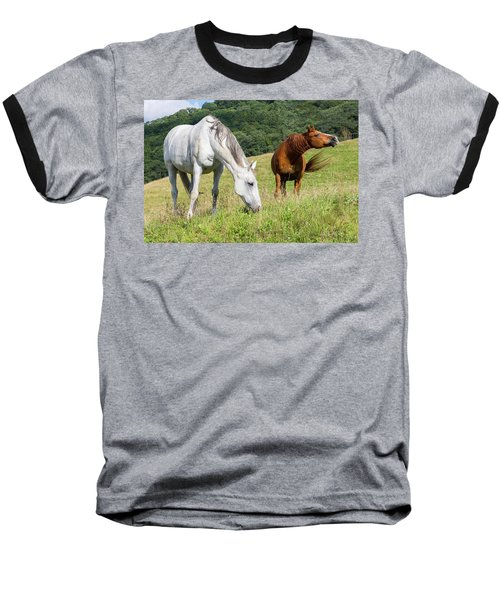 Summer Evening For Horses Baseball T-Shirt