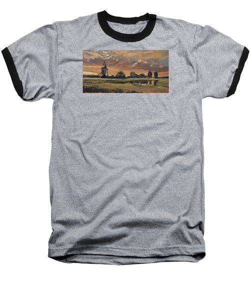 Summer Evening In The Polder Baseball T-Shirt