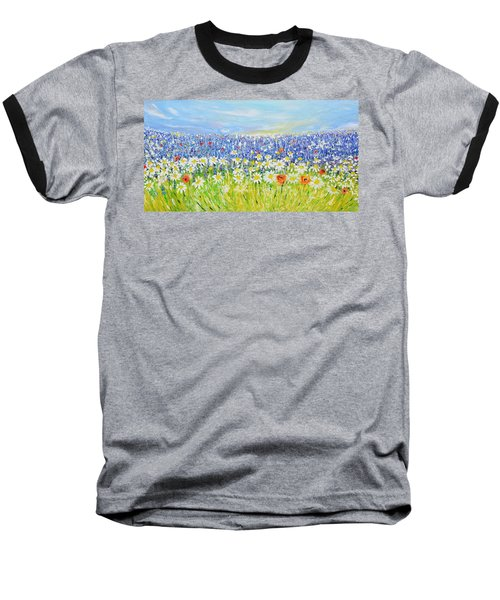 Summer Field Baseball T-Shirt by Evelina Popilian