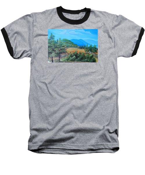 Summer Fields 2 Baseball T-Shirt by Remegio Onia