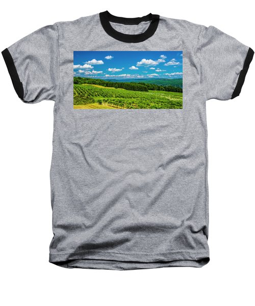 Baseball T-Shirt featuring the photograph Summer Fields by Steven Ainsworth