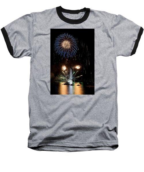 Summer Fireworks I Baseball T-Shirt by Helen Northcott