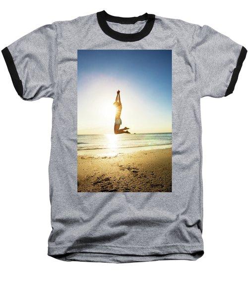 Summer Fitness Girl Baseball T-Shirt