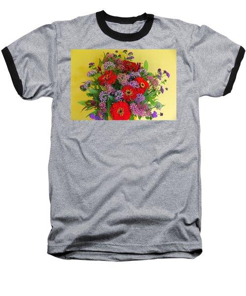 Baseball T-Shirt featuring the photograph Summer Flower Bouquet by Byron Varvarigos