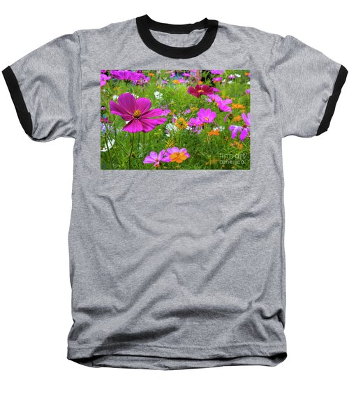 Summer Flower Garden Baseball T-Shirt