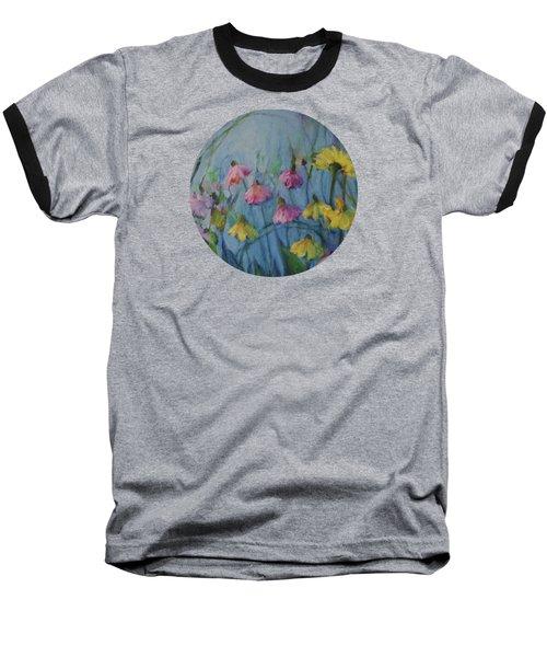 Summer Flower Garden Baseball T-Shirt by Mary Wolf