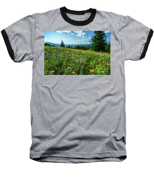 Summer Flowers In The Highlands Baseball T-Shirt