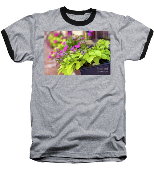 Summer Flowers In Window Box Baseball T-Shirt