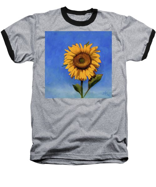 Baseball T-Shirt featuring the painting Summer Fun by Billie Colson