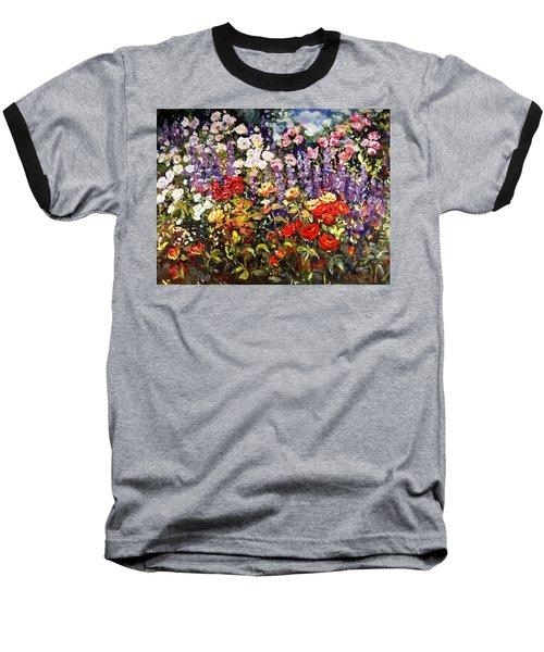 Summer Garden II Baseball T-Shirt by Alexandra Maria Ethlyn Cheshire