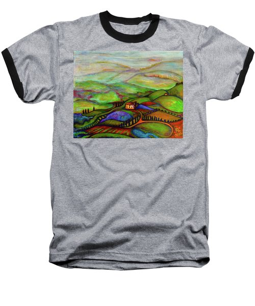 Baseball T-Shirt featuring the painting Summer Hills by Rae Chichilnitsky