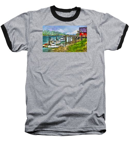 Summer In La'conner Baseball T-Shirt by Dale Stillman