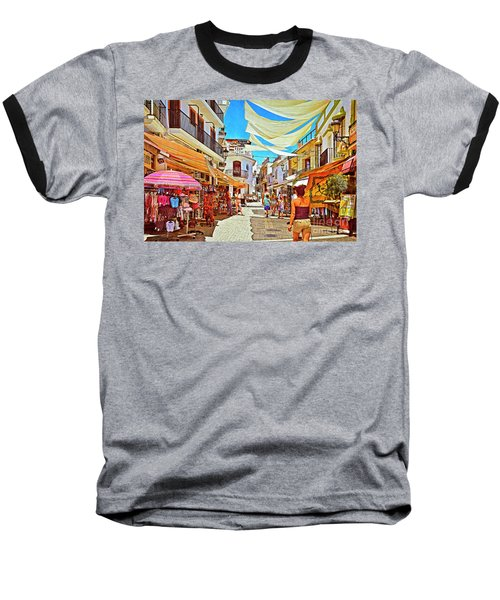 Baseball T-Shirt featuring the photograph Summer In Malaga by Mary Machare