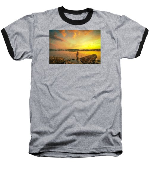 Baseball T-Shirt featuring the painting Summer Joy by Rose-Maries Pictures
