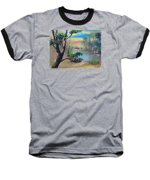 Summer Leaves Baseball T-Shirt by Remegio Onia