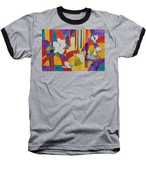 Summer Magnolias Baseball T-Shirt by Nancy Jolley