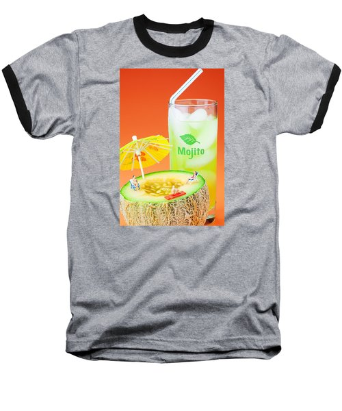 Baseball T-Shirt featuring the photograph Summer Memory Little People On Food by Paul Ge
