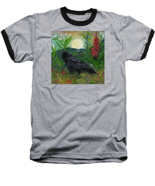 Summer Moon Raven Baseball T-Shirt