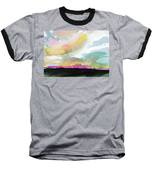 Baseball T-Shirt featuring the painting Summer Monsoon by Ed Heaton