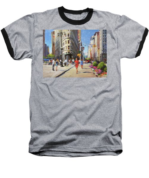 Summer Morning At Flatiron Plaza Baseball T-Shirt