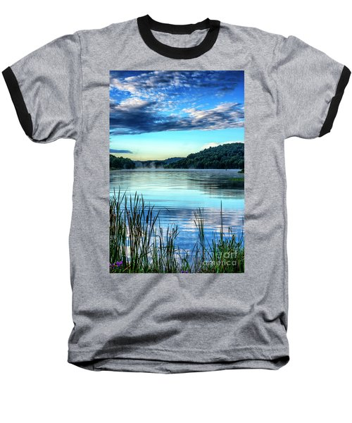 Summer Morning On The Lake Baseball T-Shirt by Thomas R Fletcher
