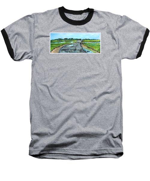Summer On Lieutenant's Island Baseball T-Shirt by Rita Brown