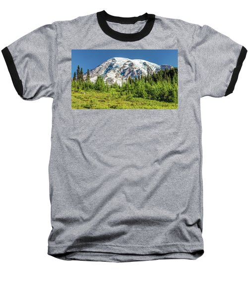Baseball T-Shirt featuring the photograph Summer On Mount Rainier by Pierre Leclerc Photography