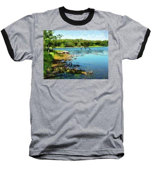 Summer On The Lake Baseball T-Shirt