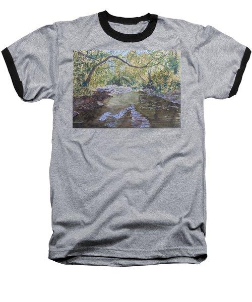 Summer On The South Tow River Baseball T-Shirt by Joel Deutsch