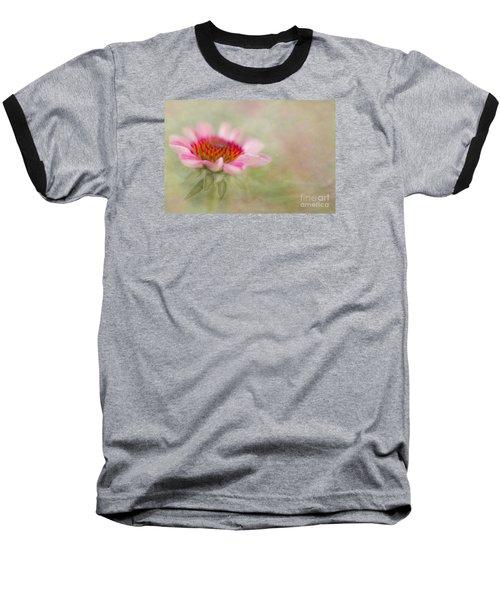 Summer Pink Echinacea Baseball T-Shirt