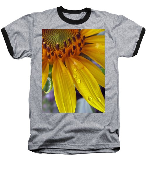 Summer Rain On Sunflower Baseball T-Shirt