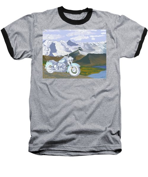 Baseball T-Shirt featuring the drawing Summer Ride by Terry Frederick