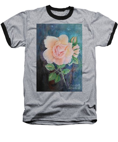 Summer Rose - Painting Baseball T-Shirt by Veronica Rickard