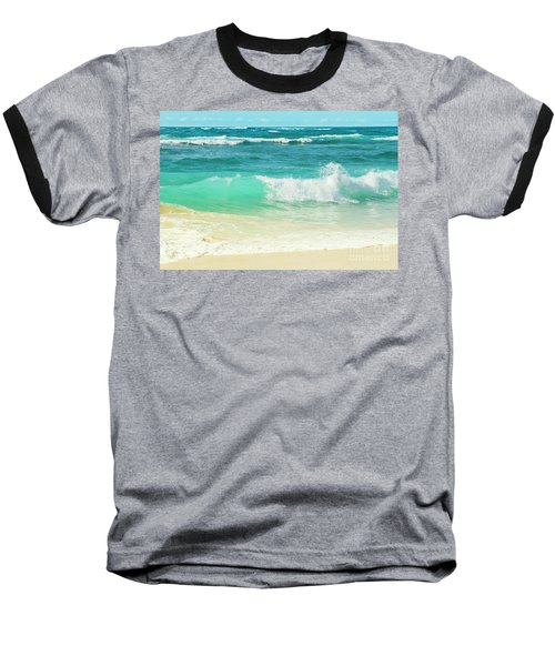 Summer Sea Baseball T-Shirt by Sharon Mau