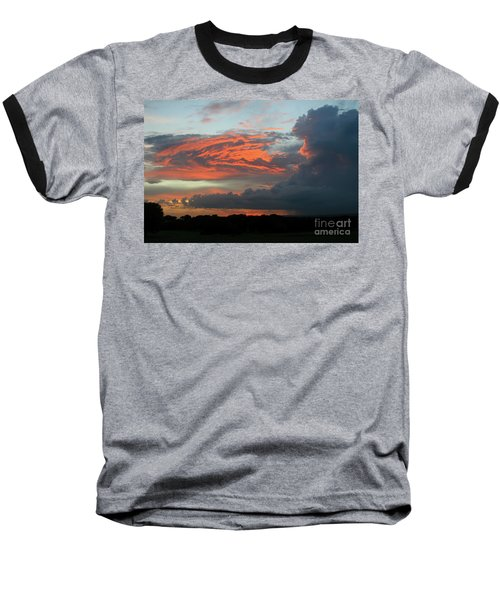 Summer Sky On Fire  Baseball T-Shirt