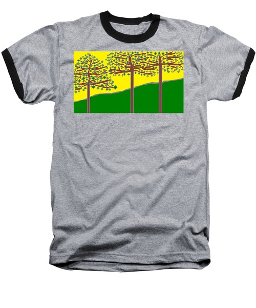 Summer Stained Glass 2 Baseball T-Shirt